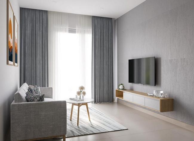 Thiết kế nội thất căn hộ chung cư Compass One 1 phòng ngủ – 1BRA